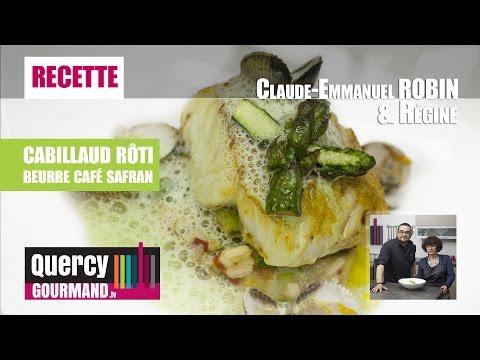 Recette : Cabillaud rôti au beurre de café/safran – quercygourmand.tv
