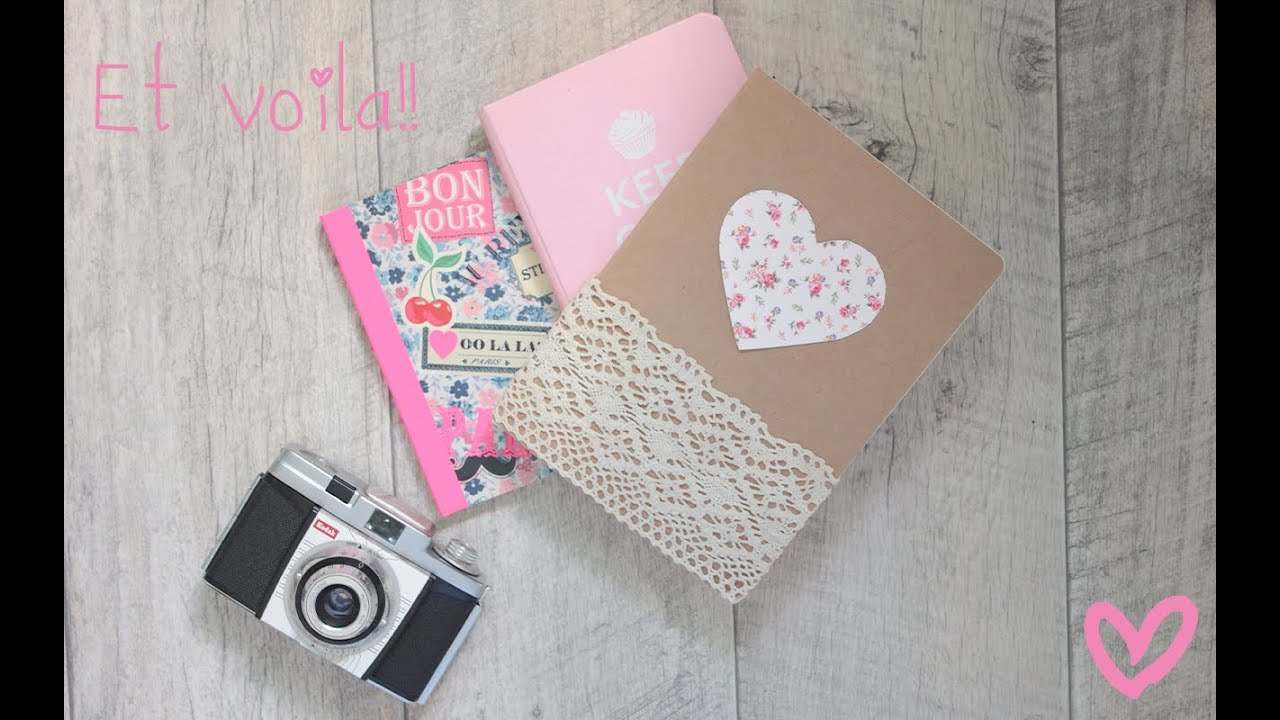 Decorate your notebook back to school diy youtube for Back to school notebook decoration ideas