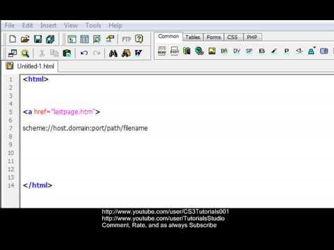 Final HTML EditingProgramming Tutorial -17- URLs