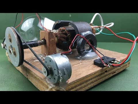 How to make electricity a free energy generator dc motor at home - Experiment new idea project