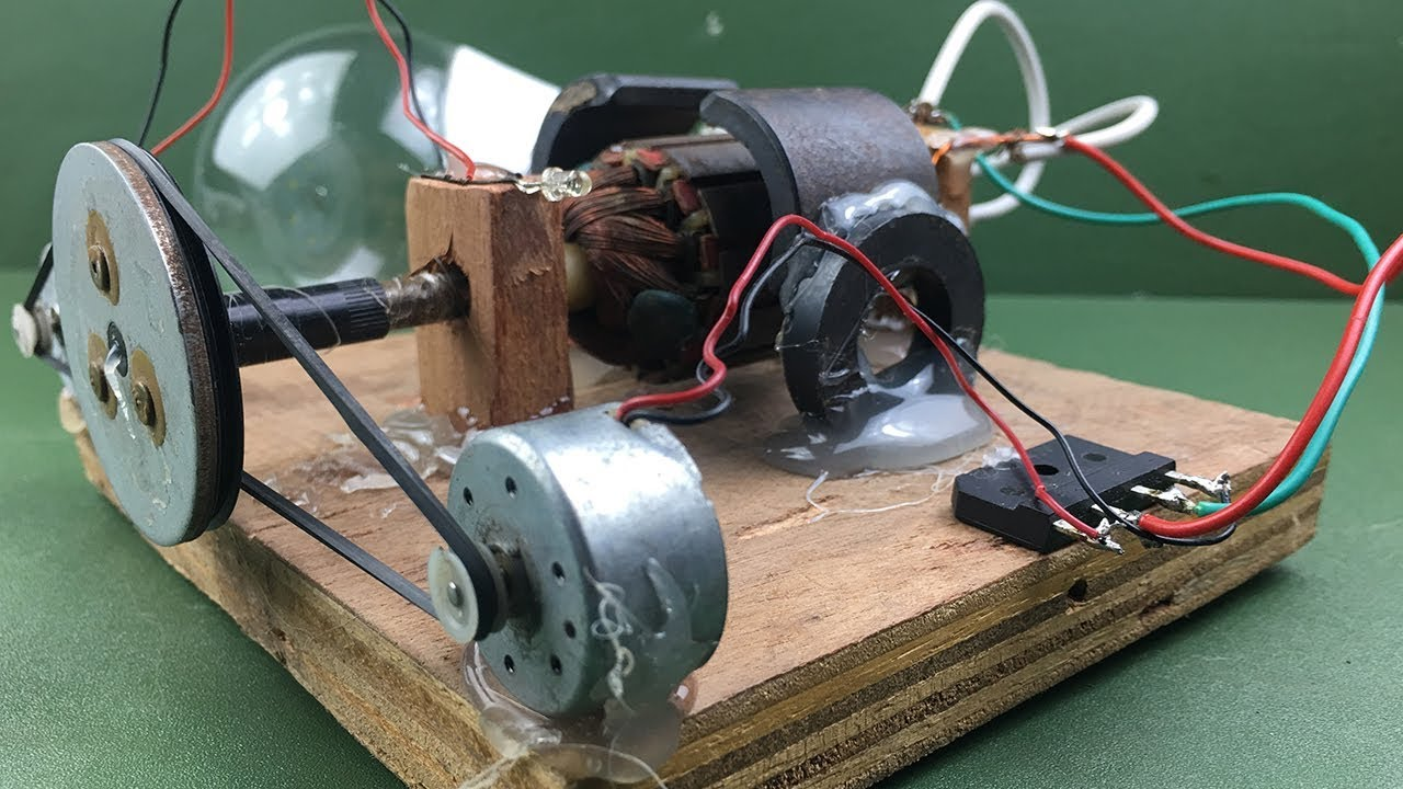 How To Make Electricity A Free Energy Generator Dc Motor At Home Experiment New Idea Project