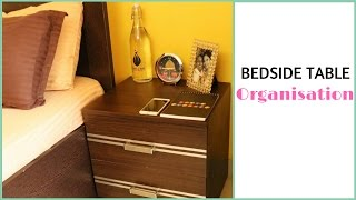 This video is about organising a bedside table. Having an organised side table, helps you reach your important bedtime items faster