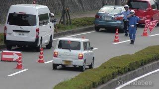 ステルスレーダー速度取締り!一網打尽で違反車を検挙