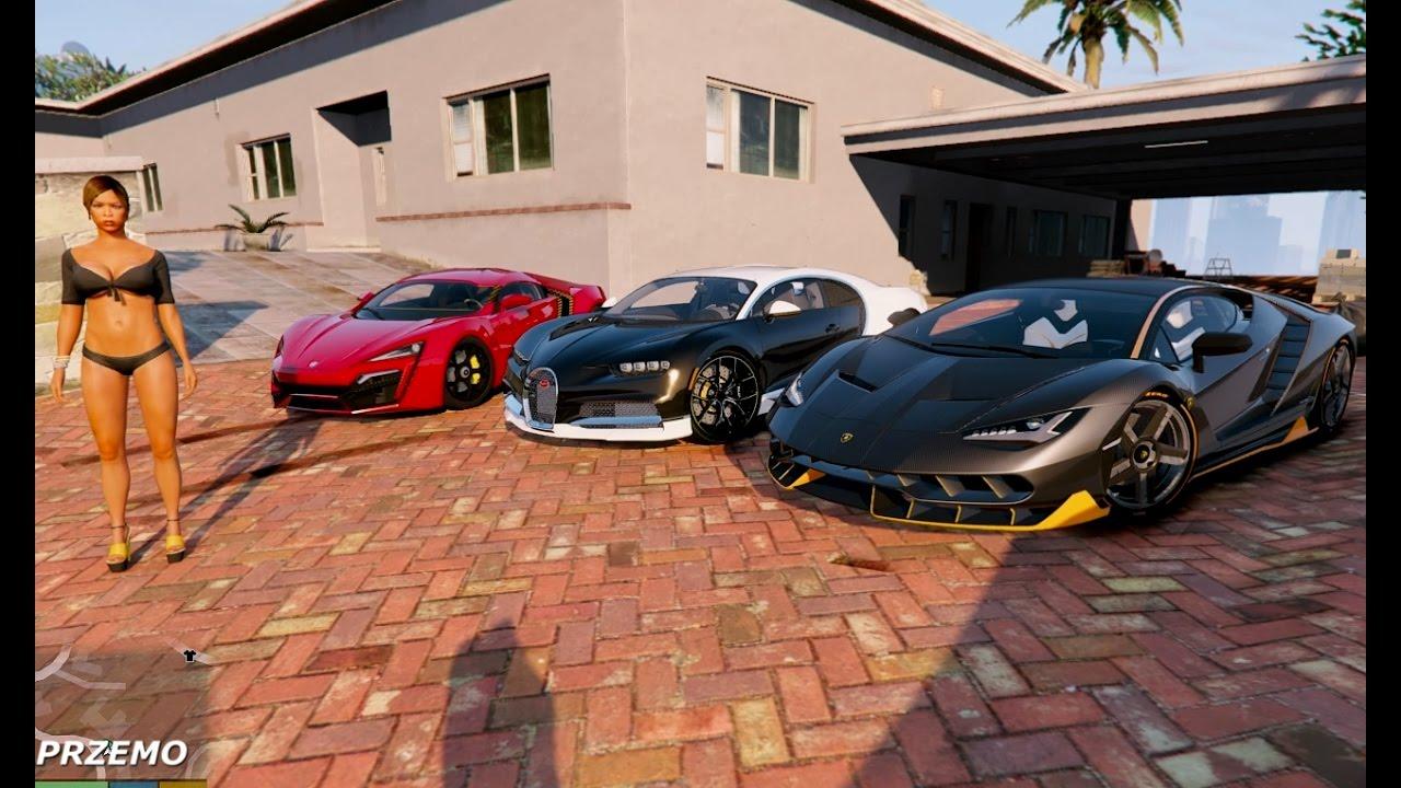 Gta V Lamborghini Centenario Vs Bugatti Chiron Vs