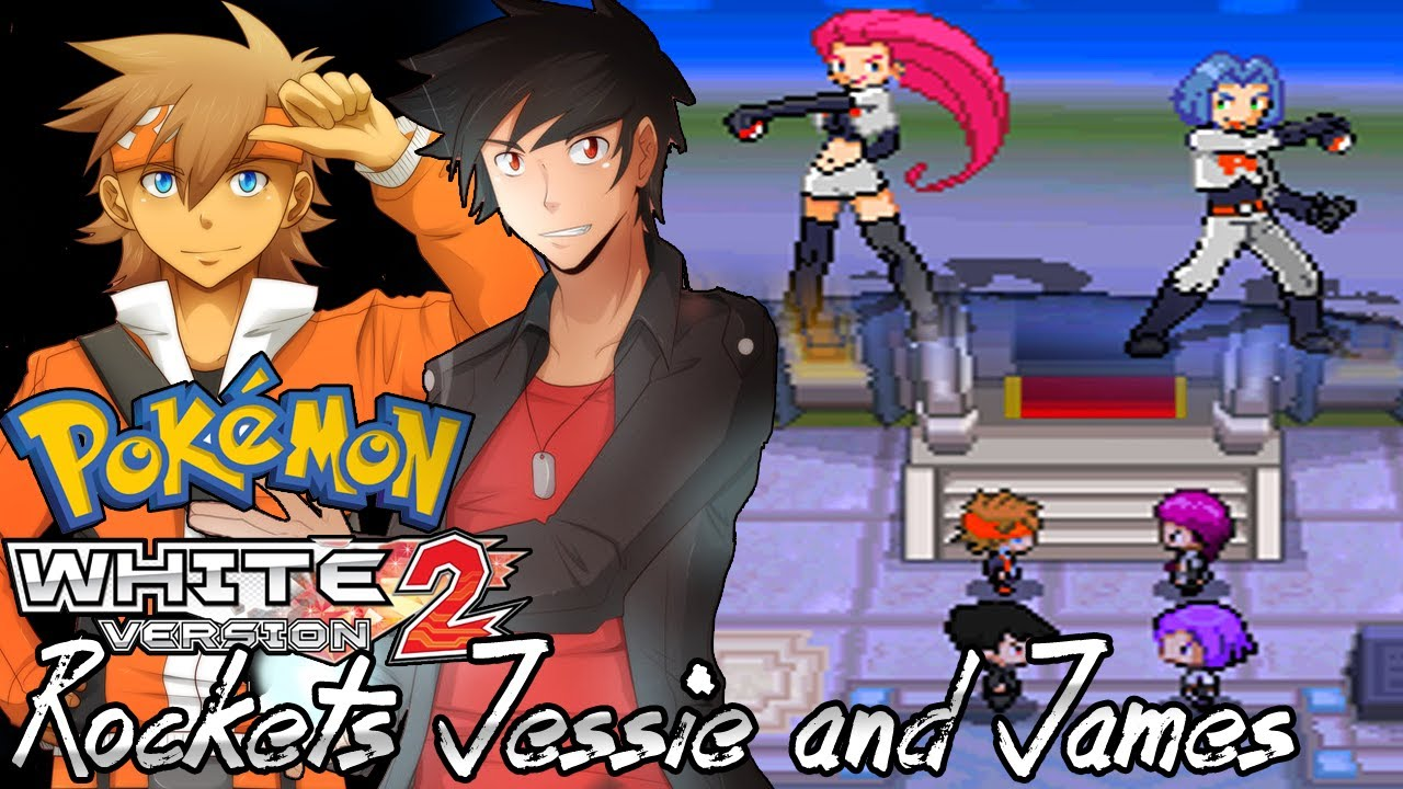 Pokemon White 2 Hack Vs Team Rocket S Jessie And James Youtube