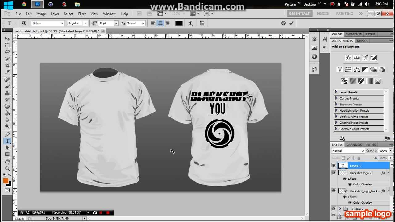 How to design a t shirt in photoshop youtube How to design shirt