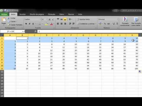 Como hacer una tabla de jultiplicar en excel solo una for Como hacer una nomina en excel con formulas
