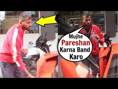 Hardik Pandya Shows ATTITUDE Towards Media With His New Lamborghini Car