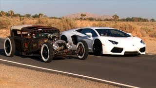 Rat Rod vs Lamborghini Aventador! Roadkill Episode 5 thumbnail