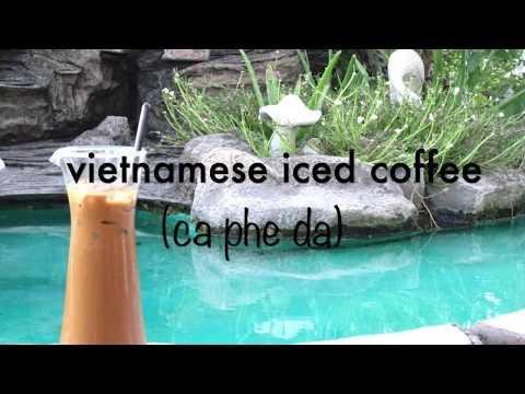 Traditional Vietnamese iced coffee (cafe da)