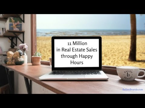 11 Million in Real Estate Sales through  Happy Hours! Real Estate Leads through Scheduled Meet UPs.