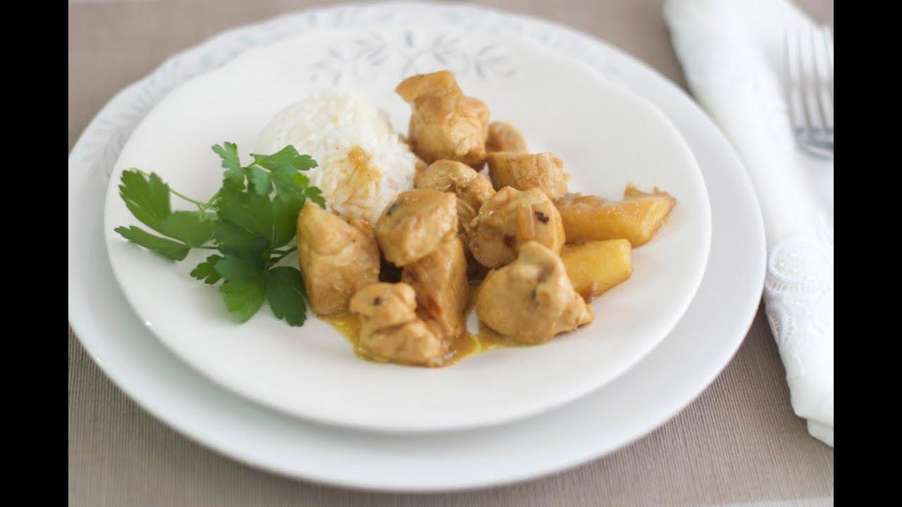 C mo hacer pollo al curry youtube for Como cocinar pollo al curry