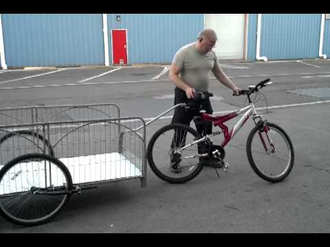 Large bicycle cargo trailer/cot.