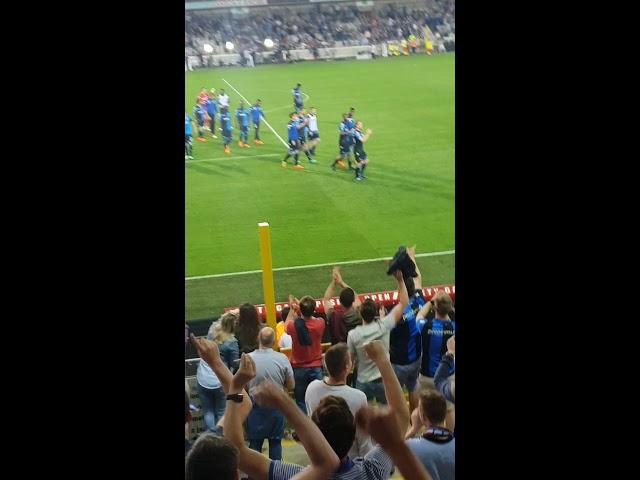 2017-2018 - Club Brugge - SC Charleroi - Feestje In De Tribunes Na de 6-0 Winst
