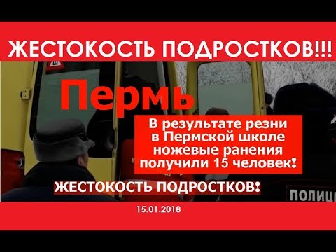 Пермь: Подростки изрезали 15 человек. Поножовщина в школе. Выпуск от 16.01.2018