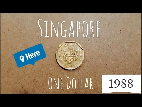 My Coins Collection 1988 One Dollar Of SINGAPORE