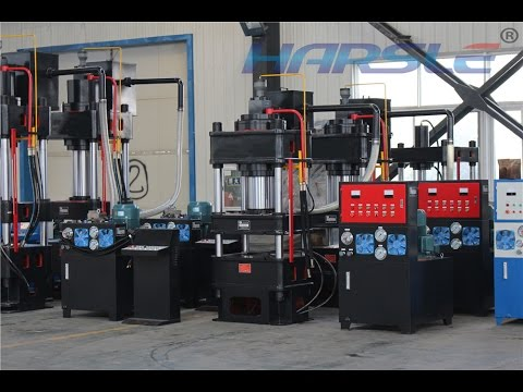 HARSLE Hydraulic press machine, testing and commissioning of four column press machine