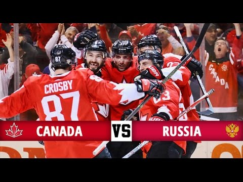 Canada vs Russia Highlights - World Cup of Hockey 2016 - (24/9/16)
