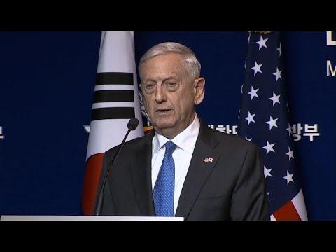 Mattis warns 'massive' response to NKorea nuclear weapon use