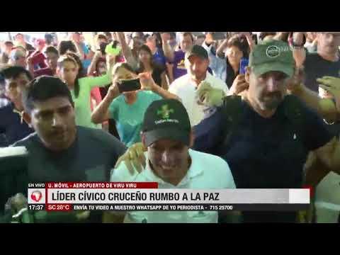 Luis Fernando Camacho parte rumbo a la ciudad de La Paz