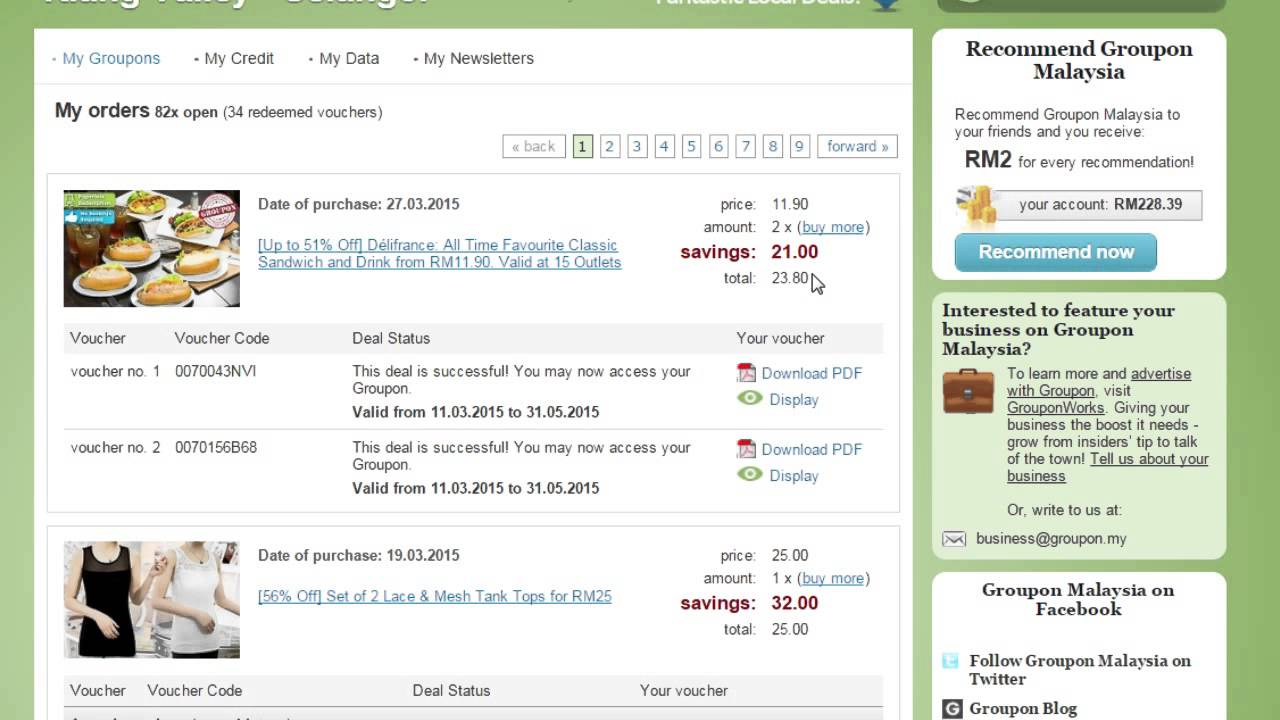how to obtain your groupon voucher youtube