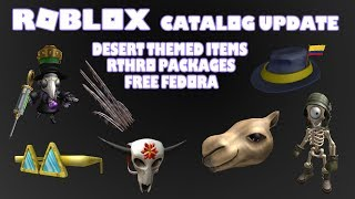 Roblox Catalog Update Desert Themed Items I + 2 Rthro Packages I + Free Fedora