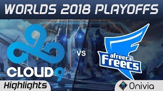 C9 vs AFS Game 1 Highlights Worlds 2018 Playoffs Cloud 9 vs Afreeca Freecs by Onivia