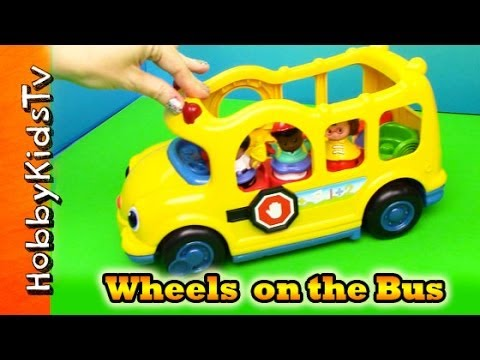 Wheels on the Bus Song + Little People Bus Toy Review HobbyKidsTV ...