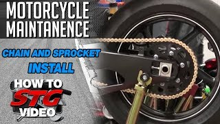 how to install a motorcycle chain and sprocket kit from sportbiketrackgear com