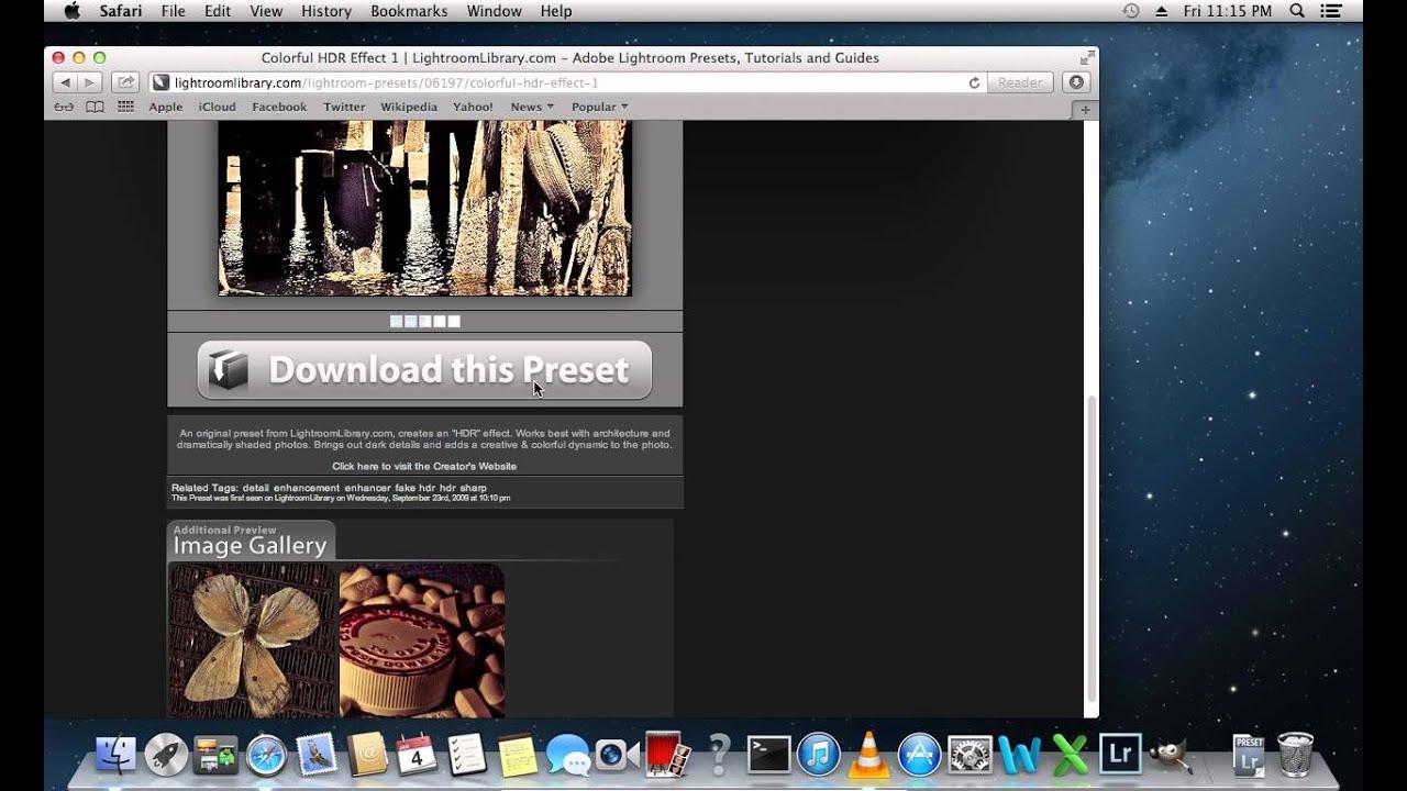 download lightroom presets for mac