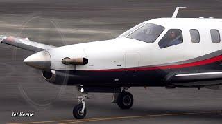 ソカタ TBM-700 着陸と離陸【4K】岡南飛行場にて
