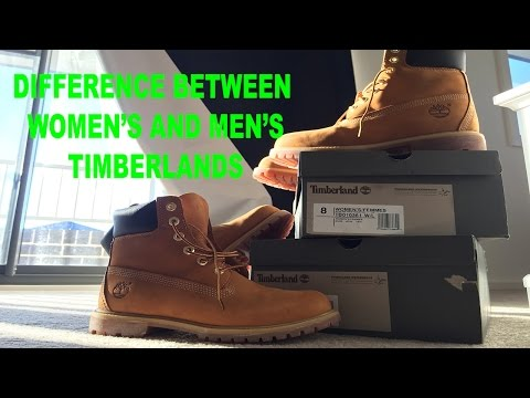 ed8d1605cfb0 Difference between Women's and Men's Timberlands - YouTube