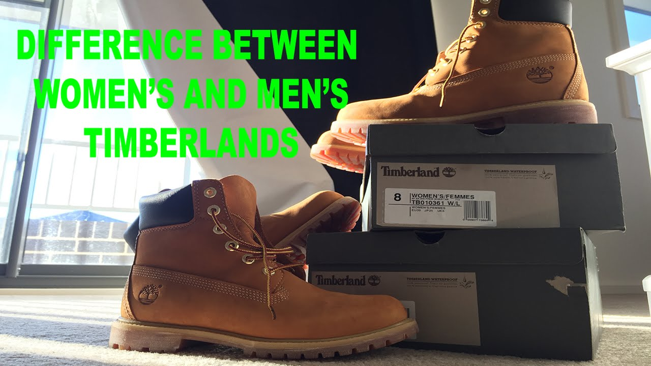 da6f592f9511 Difference between Women s and Men s Timberlands - YouTube