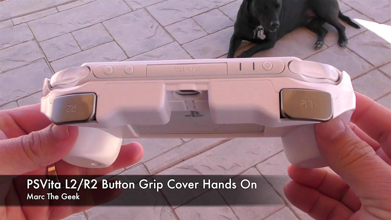 PSVita L2/R2 Button Grip Cover Hands On