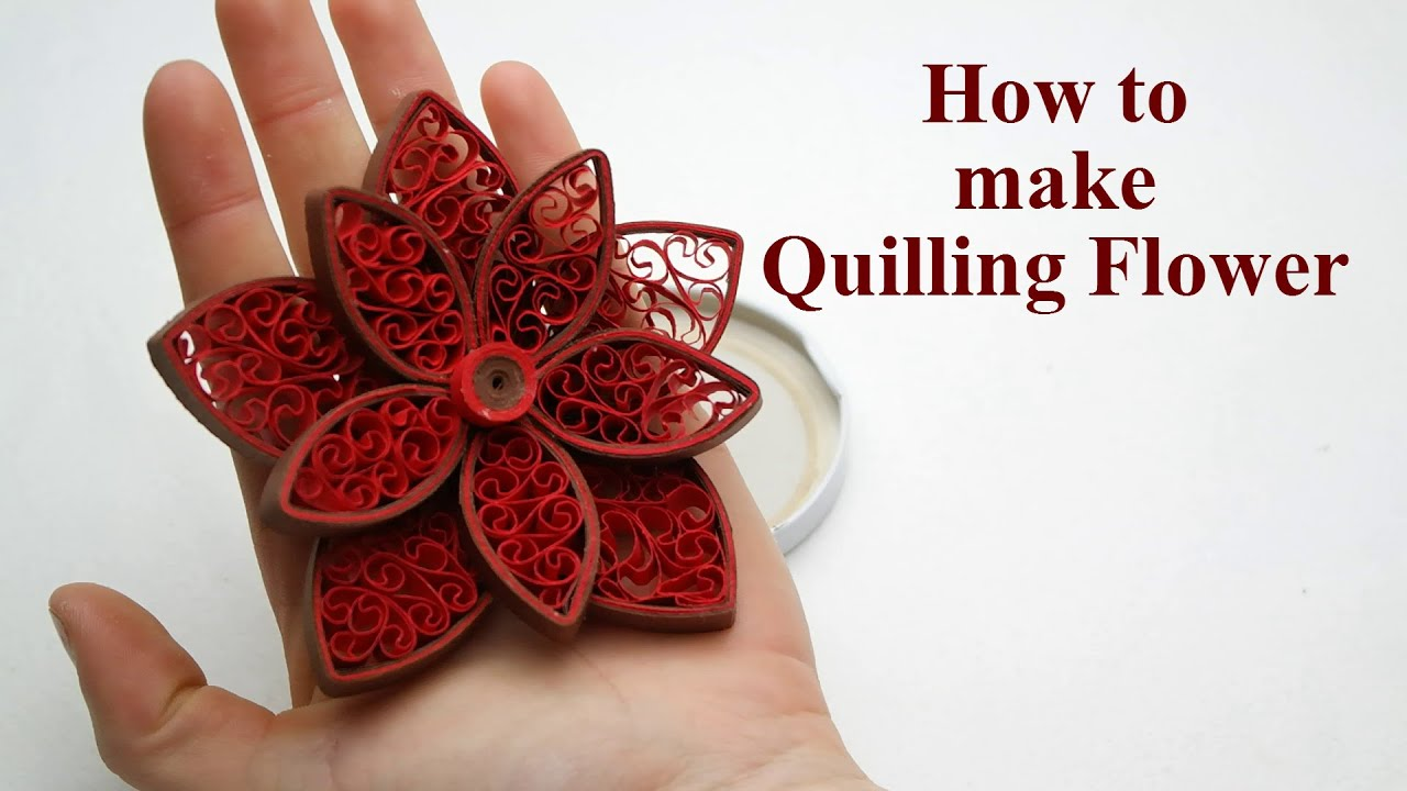 Quilling Flowers Tutorial How To Make Paper Quilling Flowers Easy