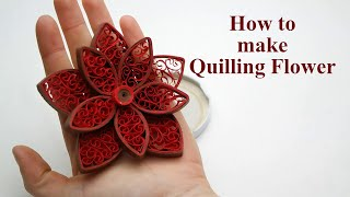 Quilling Flowers Tutorial - How to Make Paper Quilling Flowers Easy
