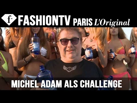 Michel Adam, President & Founder of FashionTV, does ALS Ice Bucket Challenge with Sexy Top Models
