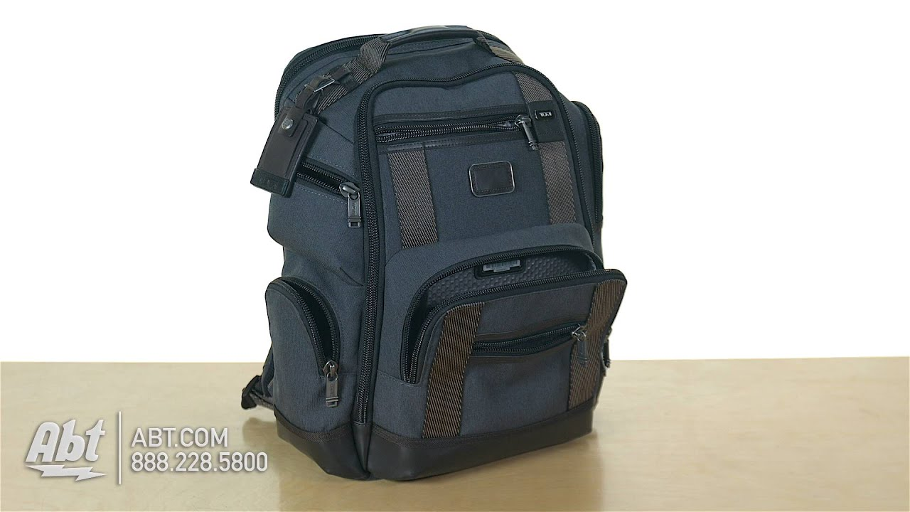 Tumi Alpha Bravo Peterson Wheeled Backpack 222473 - Overview - YouTube