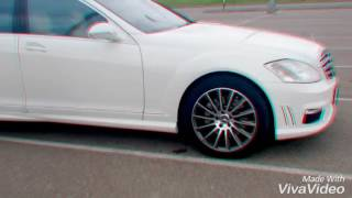 видео Прокат Mercedes-Benz S600 W221 Белый (№869) недорого