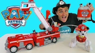 Paw Patrol Ultimate Rescue Fire Truck Adventure !    Toy Review    Konas2002