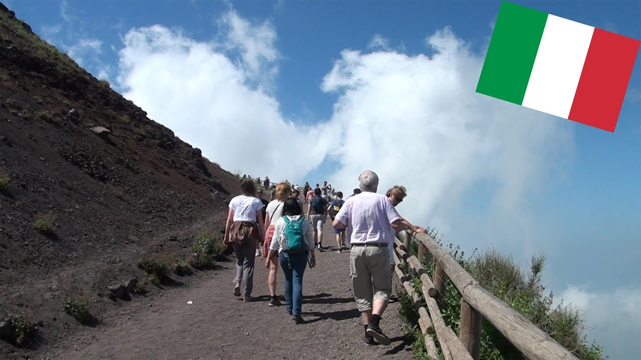 HIKING TO THE SUMMIT OF MOUNT VESUVIUS-The Volcano That Destroyed Pompeii!