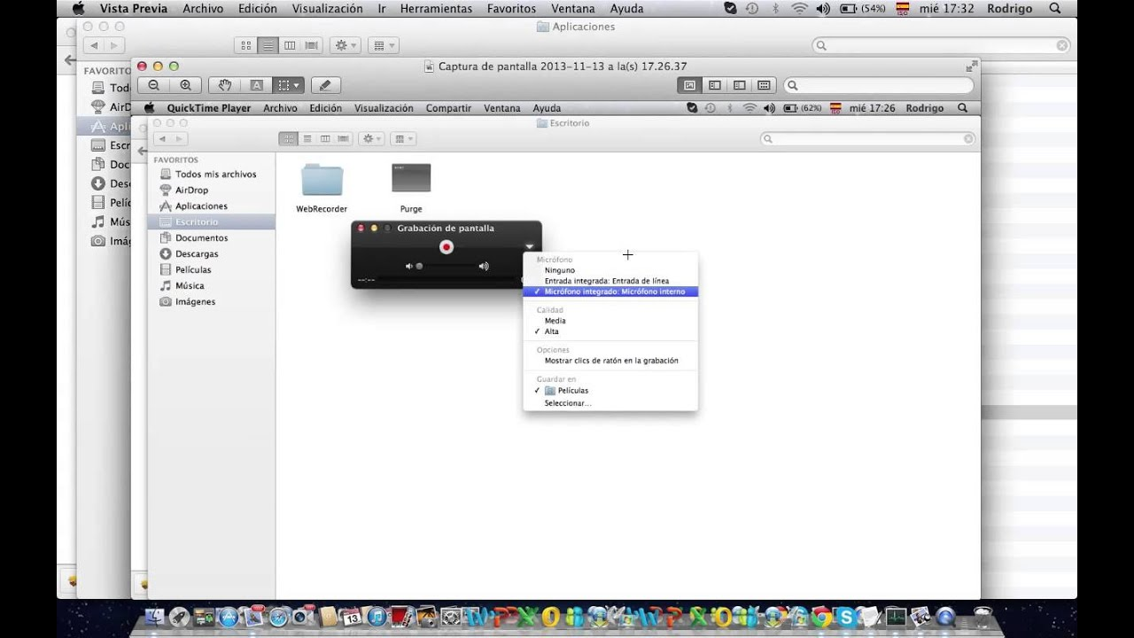 Recording your screen - QuickTime not recording your voice - How to fix