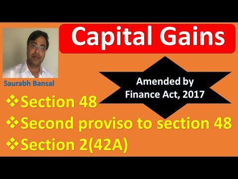 Computation of 'capital gain' & 'Holding period' Amended by Finance Act, 2017 for CA, CMA, CS