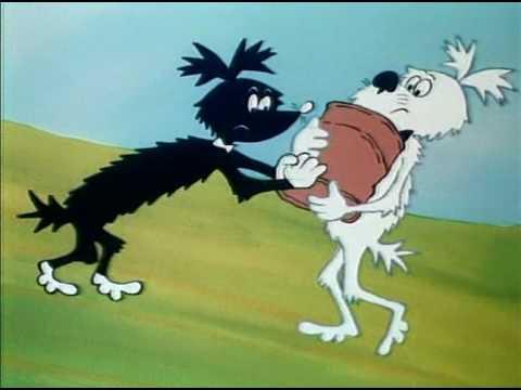 Мультфильм про черную и белую собак