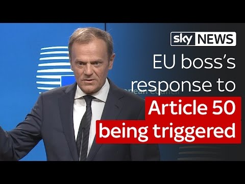 "EU boss Donald Tusk on Brexit: ""There"