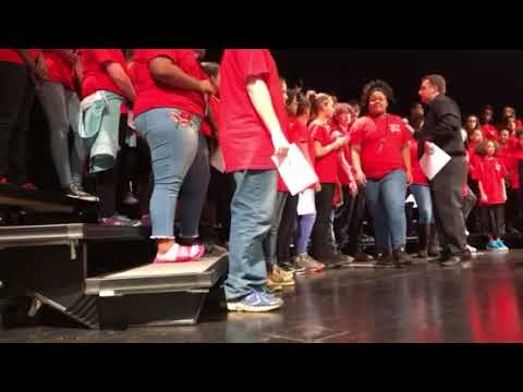James Breckinridge Middle School Choir -  Winter Concert - Opening Song