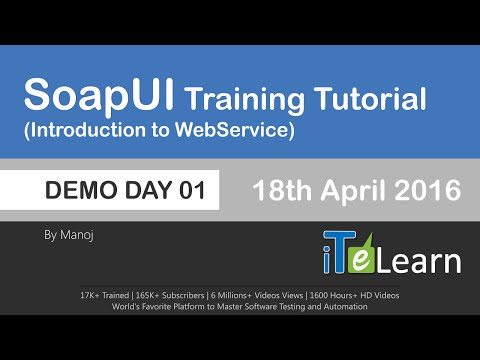 Webservices SoapUI Live Training Demo Day 01 (Web services Testing)