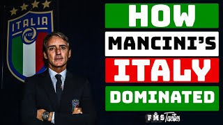 Mancini's Euro 2020 Winning Tactics Explained   Italy's Euro 2020 Tactics