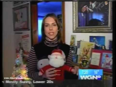 WGN Morning News broadcasts LIVE from Rankin/Bass Historian Rick Goldschmidt's home (2005)