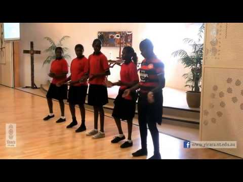 Yirara College - Girls Dancing in Chapel - Term 3 - 2016